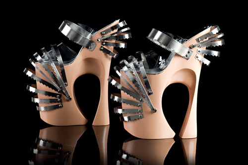 Sculptural Stilettos by Omar Perez