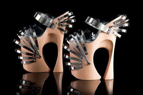 Sculptural Stilettos by Omar Perez