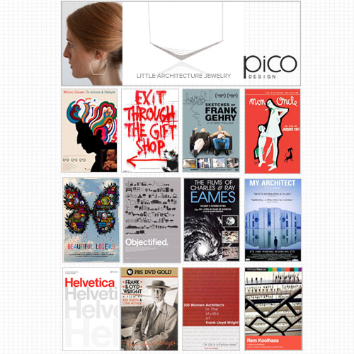 Get Inspired with Pico Design's Architectural Jewelry Collection and Win 12 Architecture & Design DVDs