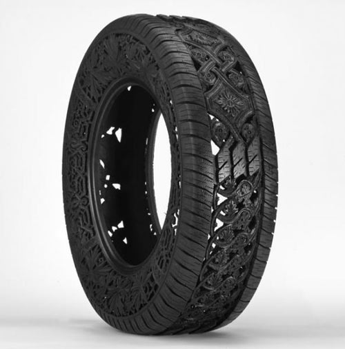Carved Tires by Wim Delvoye in art  Category