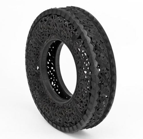 Carved Tires by Wim Delvoye in main art  Category