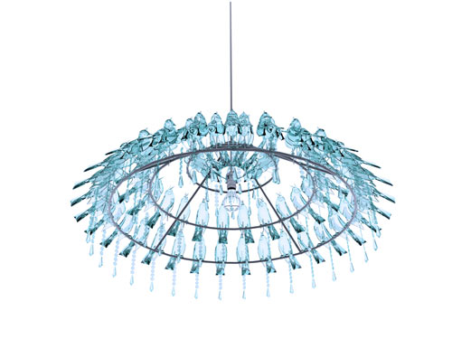 Bird Poop Chandelier by Wyatt Little in home furnishings  Category