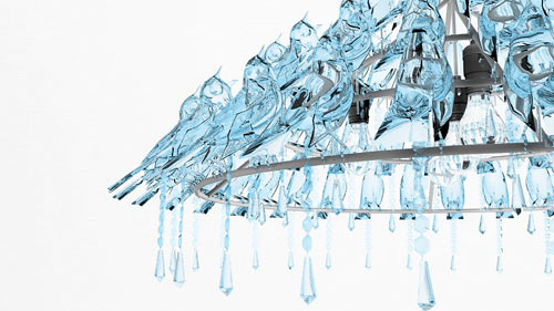 Bird Poop Chandelier by Wyatt Little in main home furnishings  Category