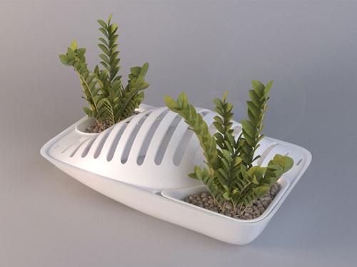 Fluidity Dish Rack Planter by DesignLibero