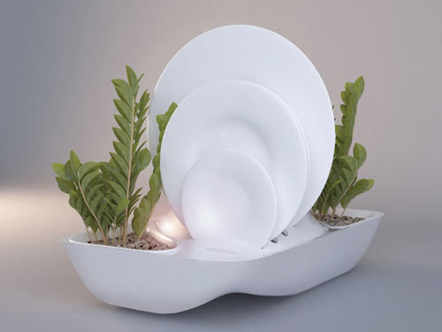 Fluidity Dish Rack Planter by DesignLibero in main home furnishings  Category