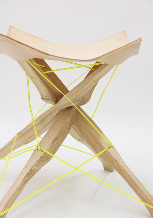 Kreuzband Stool by Judith Jacobi in main home furnishings  Category
