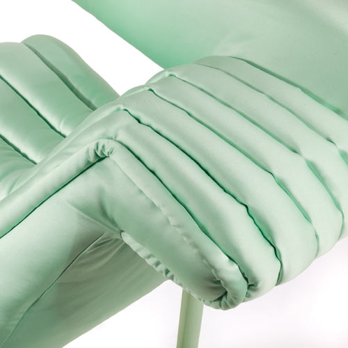 Puffy Mint Lounger by Jessica Carnevale in Milan