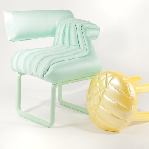 Puffy furniture by Jessica Carnevale in Milan