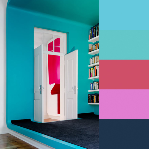 Colorful House by Pedro Gadanho in main interior design art architecture  Category