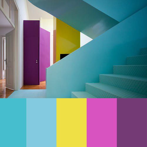 Colorful House by Pedro Gadanho