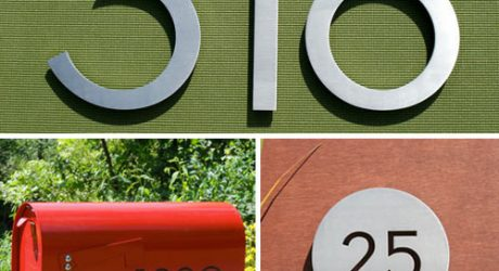 Modern House Numbers Giveaway