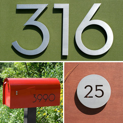 Modern House Numbers Giveaway in sponsor news events  Category