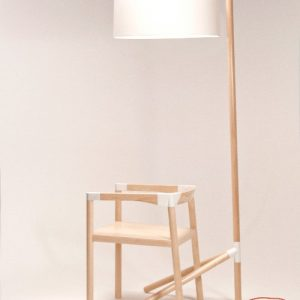 Peg Lamp and Chair by Tomas Rojcik