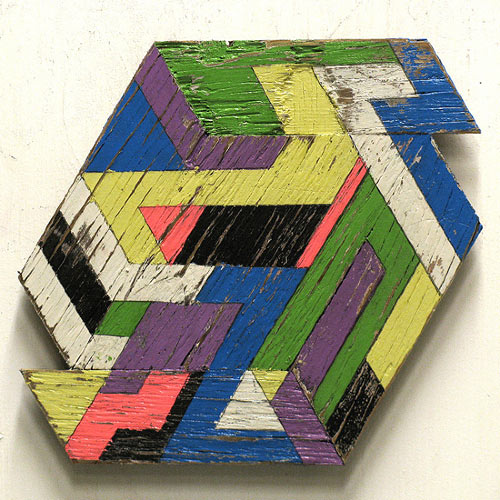 Geometric Wooden Sculptures by Aaron Moran