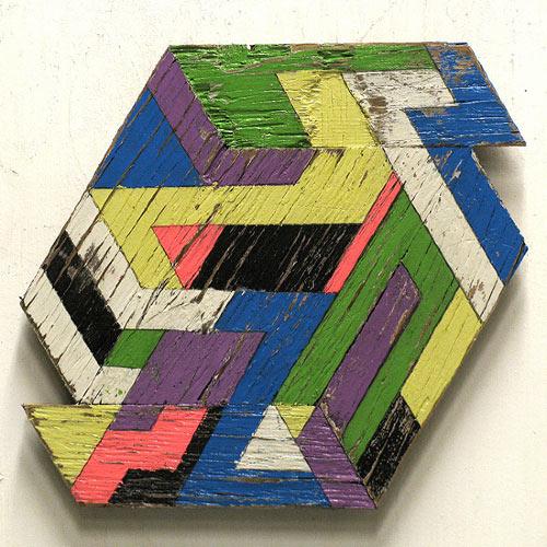 Geometric Wooden Sculptures by Aaron Moran