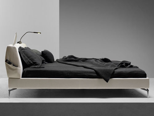 the tea time bed was designed by arik levy for molteniu0026c and the name alone makes me want to go sleep upholstered headboard comes complete with modern bed side view24 modern