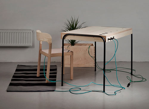 Energy-Producing Workspace by Eddi Törnberg
