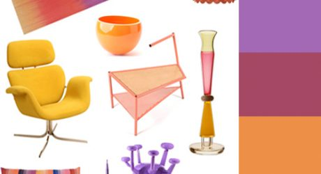 Modern Furnishings in Sunset Hues