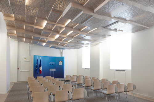 Press Conference Room by h2o architectes in main architecture  Category