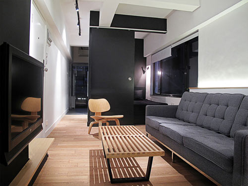 Hong Kong Apartment with Space Invaders Bathroom by OneByNine in main interior design  Category