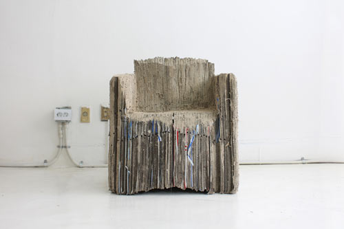 Reborn Cardboard Sofa by Monocomplex