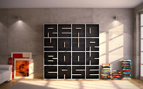 ABC Shelf for Saporiti: Read Your Bookcase