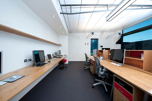 office studio design. I Love The Pops Of Red Throughout. Office Studio Design