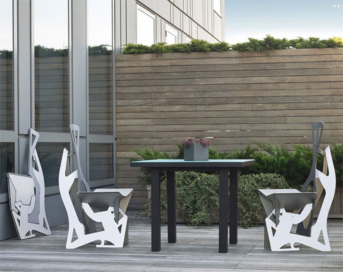 Folditure Leaf Chair by Alexander Gendell in main home furnishings  Category