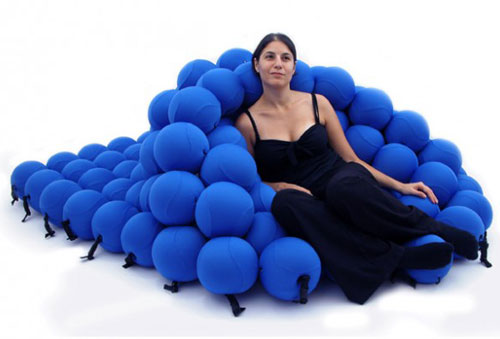It looks like relaxing on a bed of squishy volleyballs, but the Feel  Seating System Deluxe is made up of 120 u201csoft and extremely pleasantu201d balls.