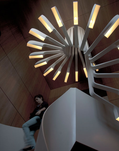 Spiral Staircase Lighting By .