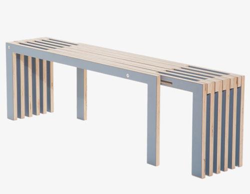 Agranda Bench and Integra Desk by RASKL