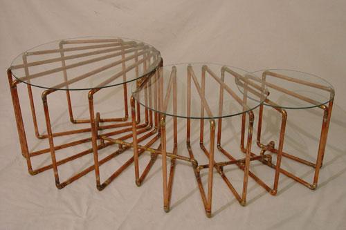 Sculptural Copper Tubing Furniture And Art By TJ Volonis Design Milk - Copper pipe furniture