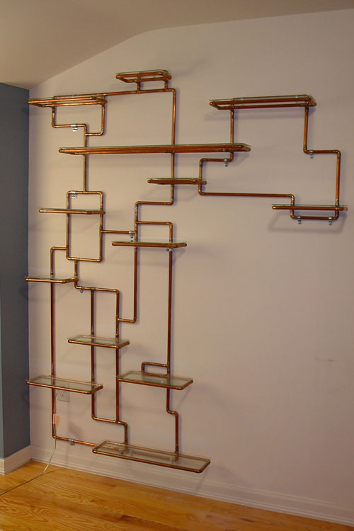 Sculptural copper tubing furniture and art by tj volonis - design milk