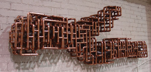 Terrific Copper Pipe Wall Art Pictures Decoration Inspiration