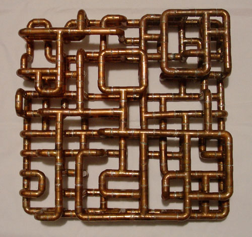 Copper Tubing Art sculptural copper tubing furniture and arttj volonis - design milk