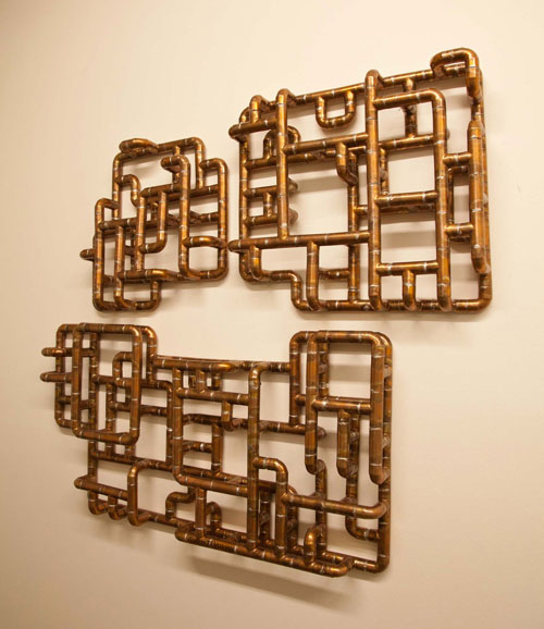 Sculptural Copper Tubing Furniture and Art by TJ Volonis in main home furnishings art  Category