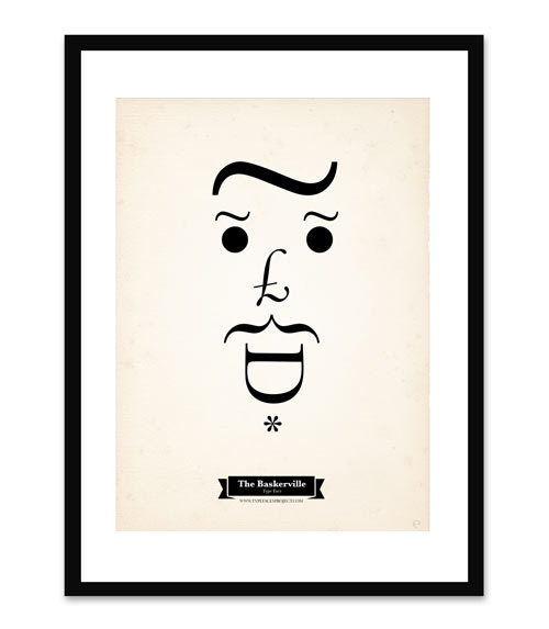 Typography Series of Faces Made from Fonts by Tiago Pinto in art  Category
