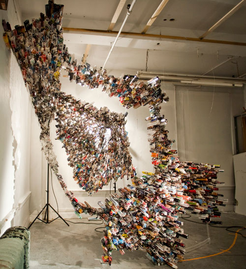 Magazine and Newspaper Sculptures by Yun Woo Choi in main art  Category