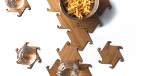 Zesch Interlocking Coasters by Michiel Cornelissen Ontwerp