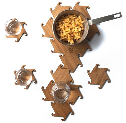 Zesch Interlocking Coasters by Michiel Cornelissen Ontwerp