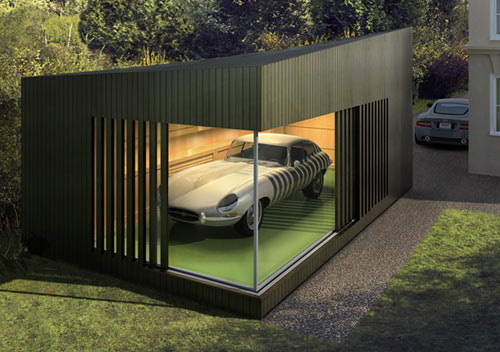 Autospace the modern garage design milk for Piani di garage free standing