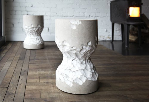 Limestone Stool by Castor