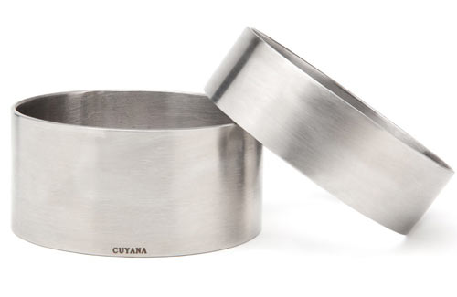 Minimalist Stainless Steel Bangles from Cuyana