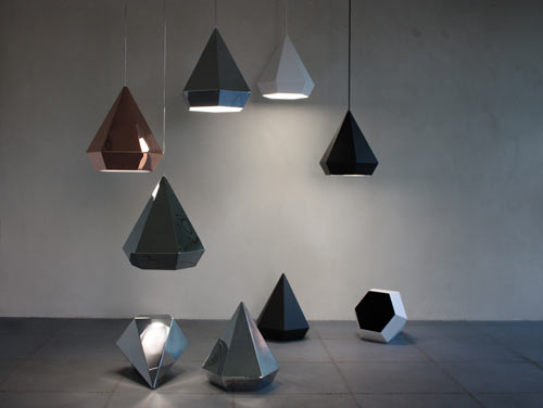 Lampen in Diamantenform / Diamond Lamps by Sebastian Scherer