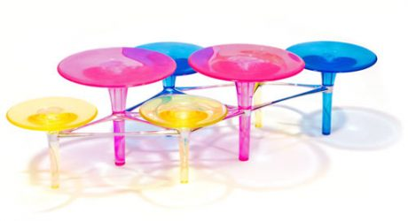 Disco-Volante Coffee Table by Simon Colabufalo