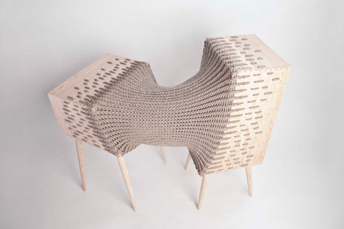 Experimental Hybrid Textile Furniture by Kata Mónus