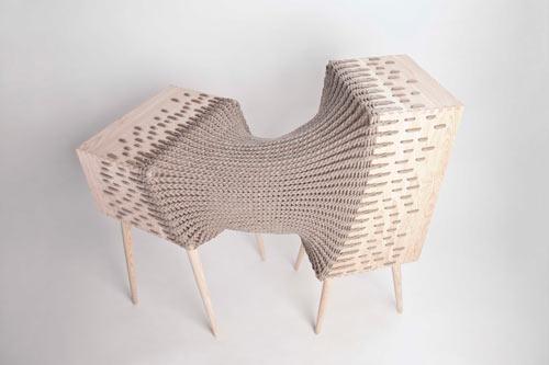 Experimental Hybrid Textile Furniture by Kata Mónus