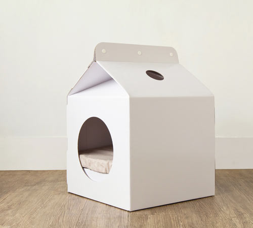 Milk Box Carton Shaped Pet House in style fashion home furnishings  Category