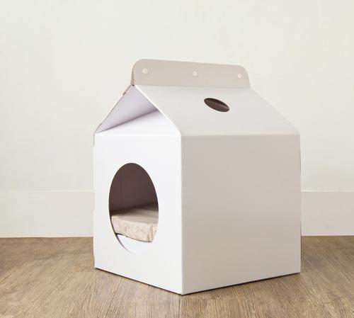 Milk Box Carton-Shaped Pet House