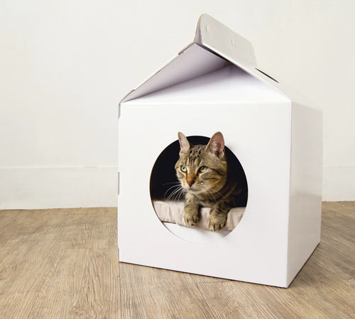 Milk Box Carton Shaped Pet House